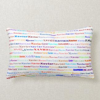 Xavier Text Design II Lumbar Pillow Throw Cushions