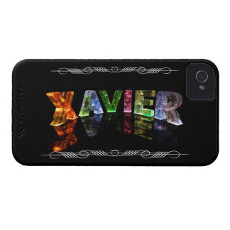 Xavier  - The Name Xavier in 3D Lights (Photo) iPhone 4 Covers