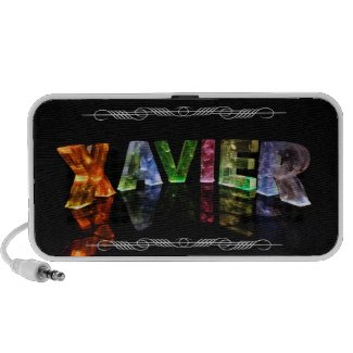 Xavier - The Name Xavier in 3D Lights (Photo) Travelling Speakers