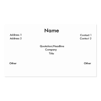 xaviers card pack of standard business cards