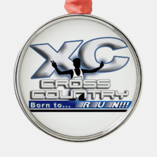 XC BORN TO RUN CROSS COUNTRY LOGO CHRISTMAS ORNAMENT