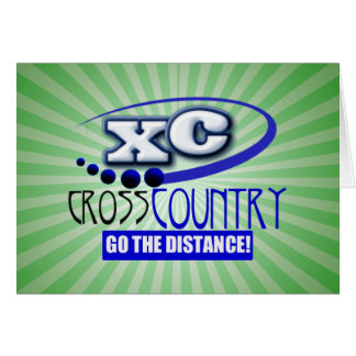 XC CROSS COUNTRY GO THE DISTANCE CARD