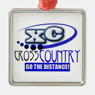 XC CROSS COUNTRY GO THE DISTANCE CHRISTMAS ORNAMENT