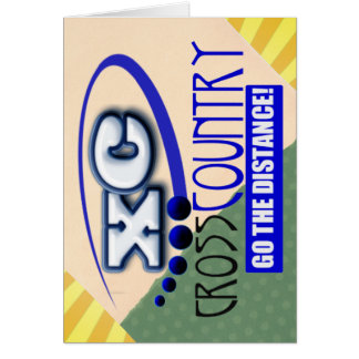 XC CROSS COUNTRY GO THE DISTANCE GREETING CARD