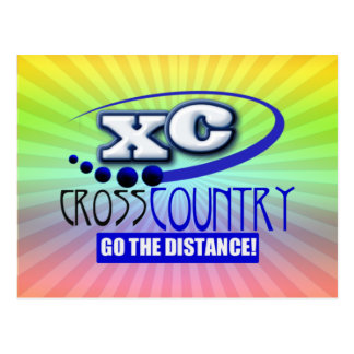 XC CROSS COUNTRY GO THE DISTANCE POSTCARD