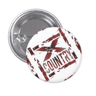 XC Cross Country Runner 3 Cm Round Badge