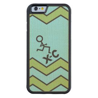 XC Cross Country Runner Chevron Pattern Maple iPhone 6 Bumper