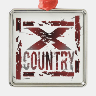 XC Cross Country Runner Christmas Ornament