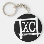 XC Cross Country Runner Key Chains