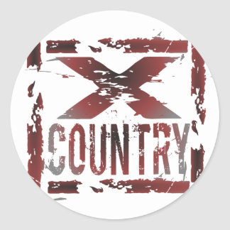 XC Cross Country Runner Round Sticker