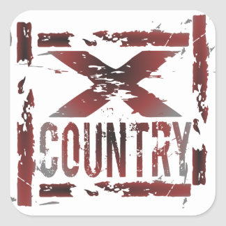 XC Cross Country Runner Square Sticker