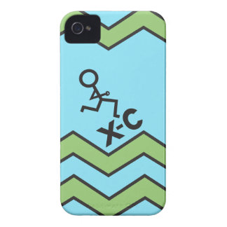 XC Cross Country Running Chevron Pattern iPhone 4 Cover