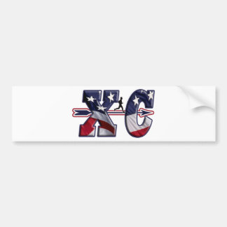 XC CROSS COUNTRY USA FLAG WRAPPED BUMPER STICKER