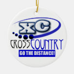 XC GO THE DISTANCE CROSS COUNTRY MOTTO ORNAMENT