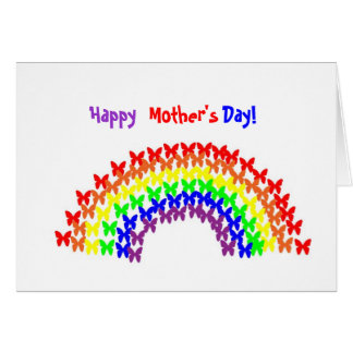 XC- Happy, Mother's, Day! Rainbow Card