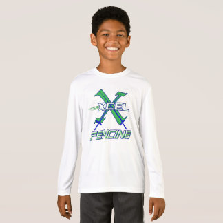 Xcel Fencing Team • Kids Long Sleeve Performance T-Shirt