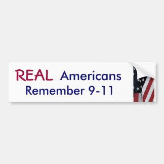 XD- REAL, Americans, Remember 9-11 sticker Bumper Sticker