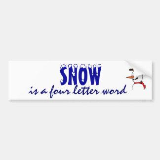 XE- Funny Snow Sticker Bumper Stickers
