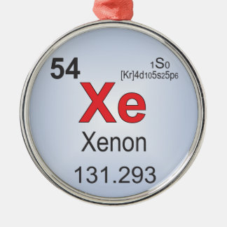 Xenon Individual Element of the Periodic Table Christmas Ornament