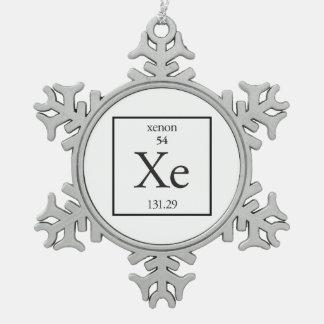 Xenon Snowflake Pewter Christmas Ornament