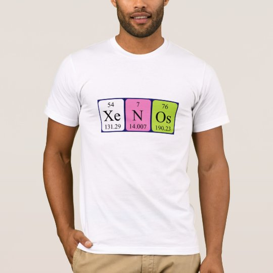 Xenos periodic table name shirt