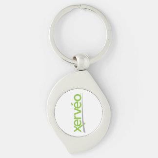 Xerveo Stylized Keychain Silver-Colored Swirl Key Ring