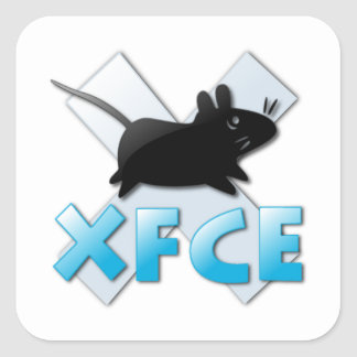 XFCE NS 1 SQUARE STICKER