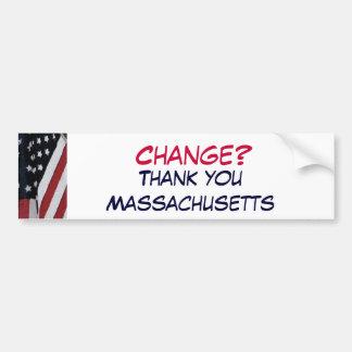 XG- Change?, Thank you Massachusetts Bumper Sticker