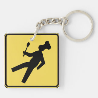 Xing chief - Cross-piece of chief Double-Sided Square Acrylic Key Ring