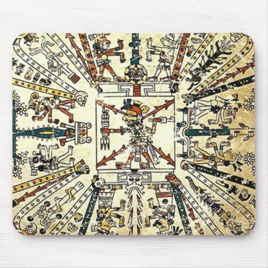 Xiuhtecuhtli Aztec Death God Mouse Mat