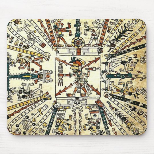 Xiuhtecuhtli Aztec Death God Mouse Pad