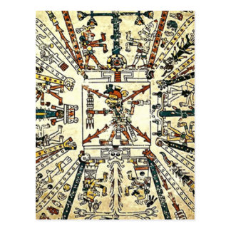 Xiuhtecuhtli Aztec Death God Post Card