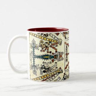 Xiuhtecuhtli Aztec Death God Two-Tone Coffee Mug