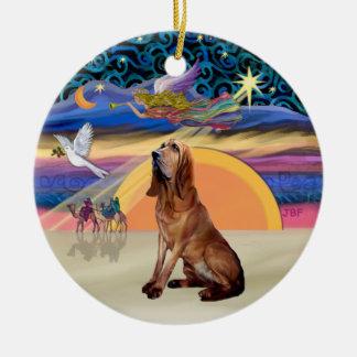 XMas Angel - Bloodhound Round Ceramic Decoration
