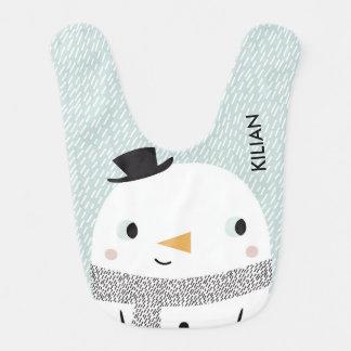 Xmas baby Snow Bib