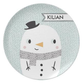 Xmas baby Snow Plate