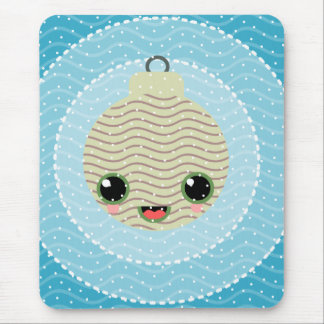 xmas balls tree polka dots kawaii snow xmas mouse pad
