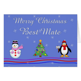 Xmas best mate greeting cards