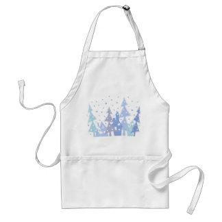 Xmas blue town standard apron
