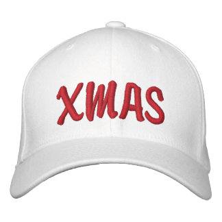 XMAS Brody Red on White Hat Baseball Cap