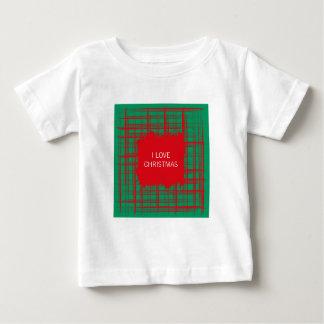 Xmas Brush Checks green Infant T-shirt