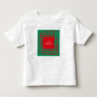 Xmas Brush Checks green Toddler T-shirt