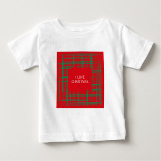 Xmas Brush Checks red Infant T-shirt