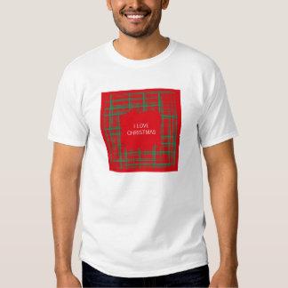 Xmas Brush Checks red T-shirt