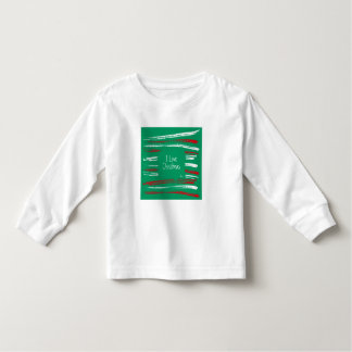 Xmas Brush Stripes green Toddler Long Sleeve Toddler T-Shirt