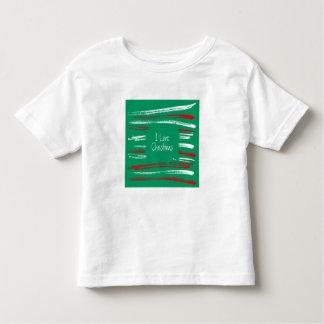 Xmas Brush Stripes green Toddler T-shirt
