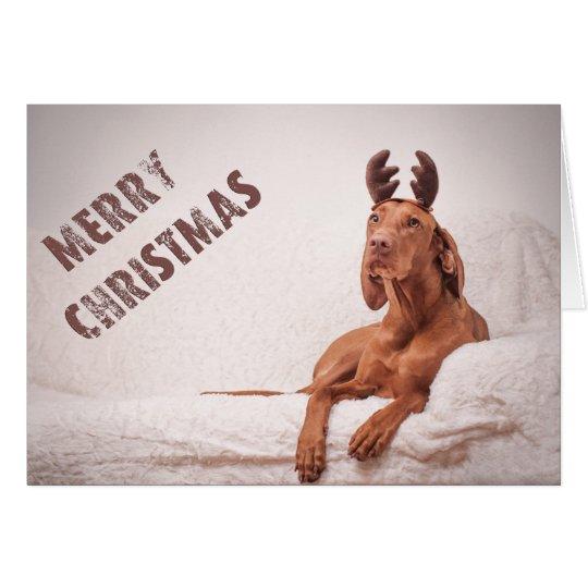 "Xmas Card/Christmas Card ""Magyar Vizsla """