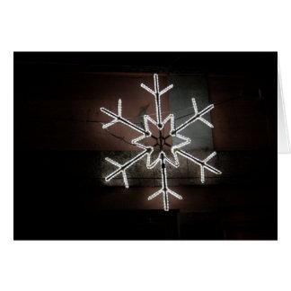 Xmas card snowflake