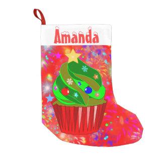 Xmas,Christmas.xmas tree cupcake Small Christmas Stocking