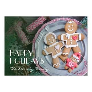 Xmas cookies 13 cm x 18 cm invitation card
